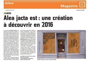 article annonce le journal de Montreuil