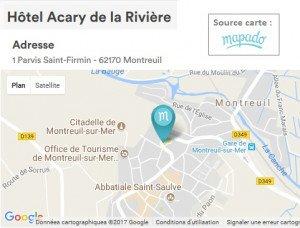Se rendre à l'Hôtel Acary de la Rivière